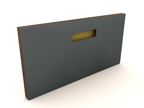 Muster 40x20  ONE_PURE_LIVING PEWTER, Griff ONE GOLD, Kante OAK BLACK (MESSING/KUPFER)