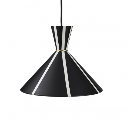 BLOOM STRIPE  PENDANT LAMP BLACK/WHITE